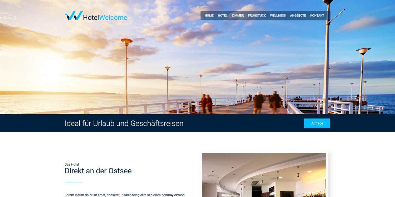 Website Vorlage Hotel