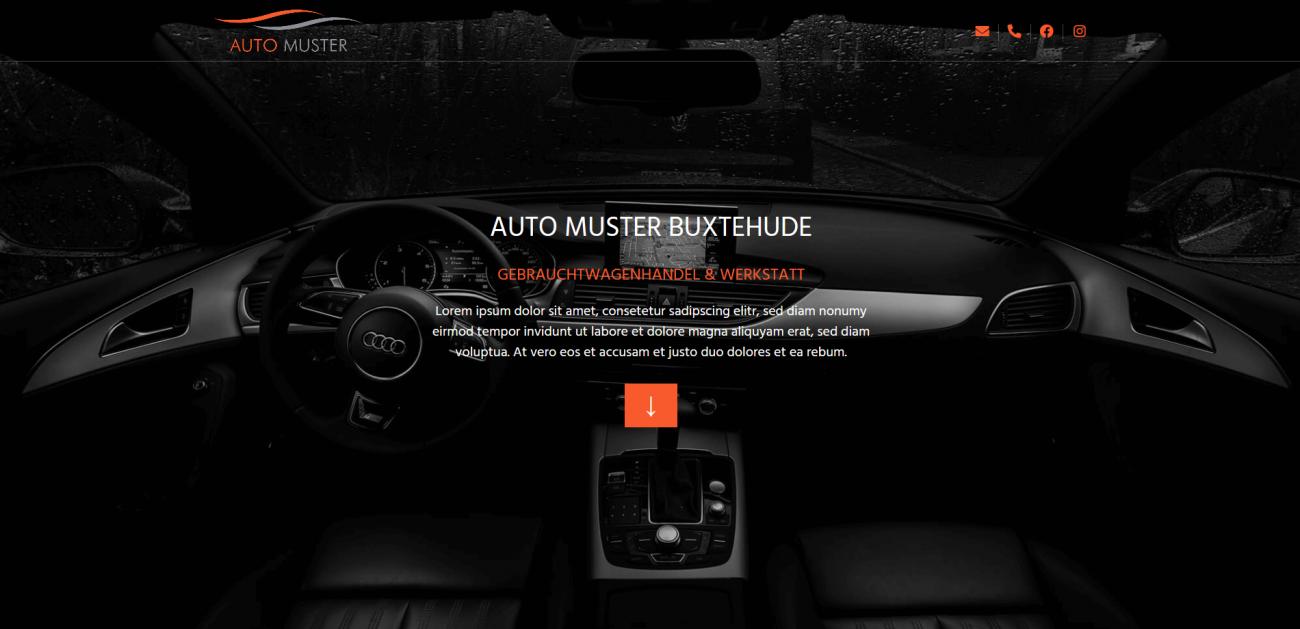 Website Vorlage Auto