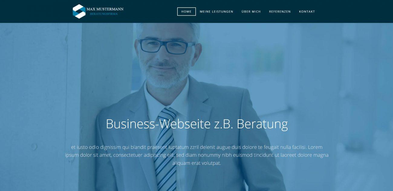 Website Vorlage Beratung