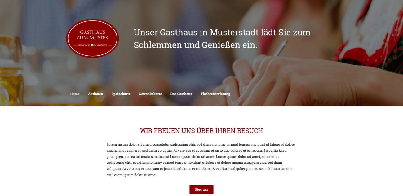 Website Vorlage Gasthaus