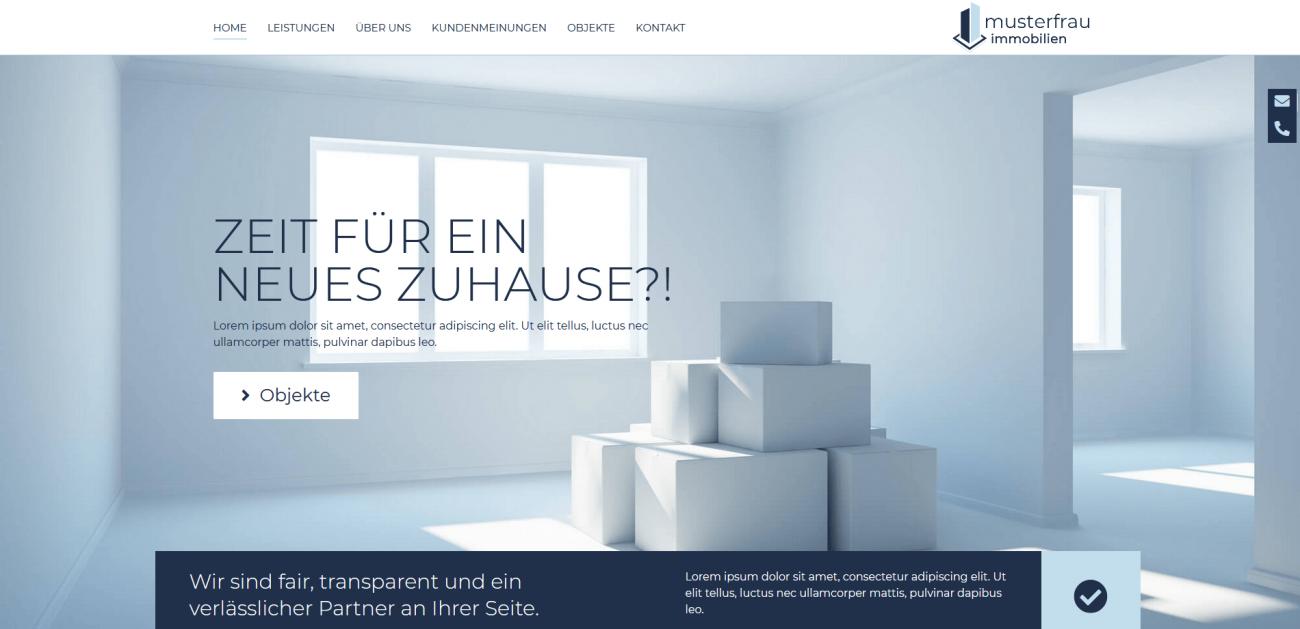 Website Vorlage Immobilien