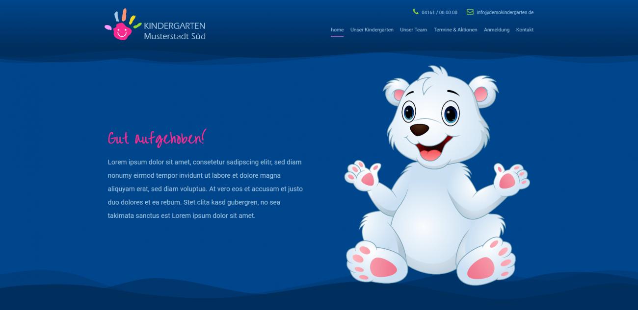 Website Vorlage Kindergarten