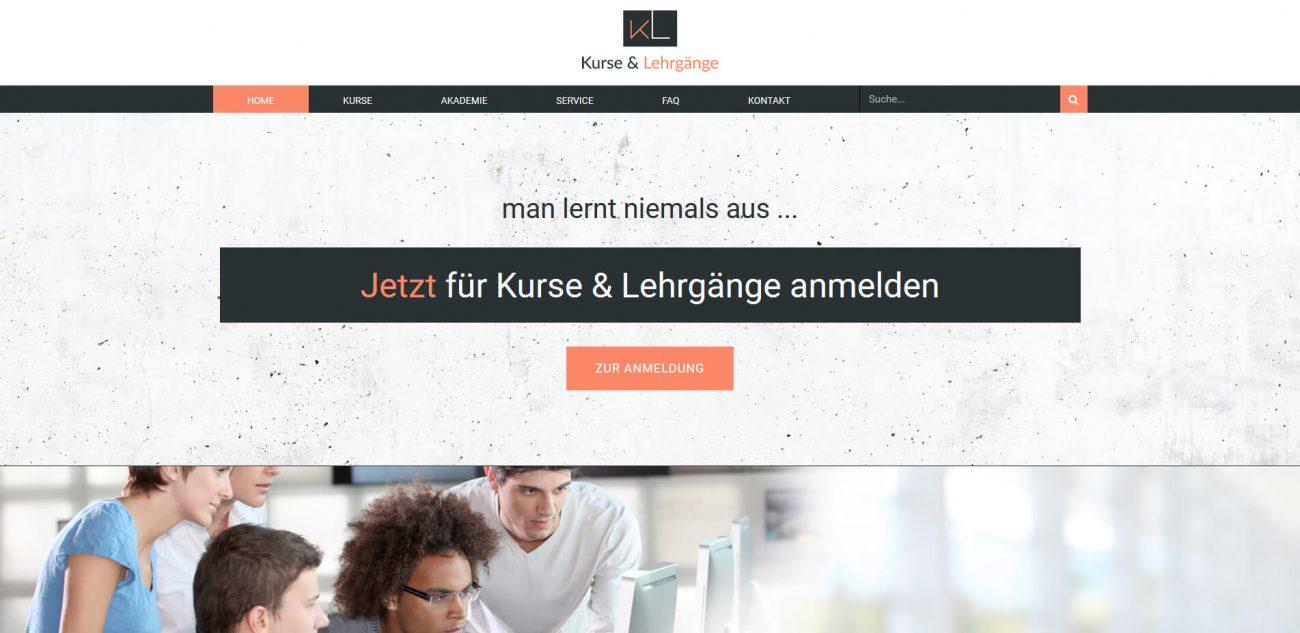 Website Vorlage Kurse