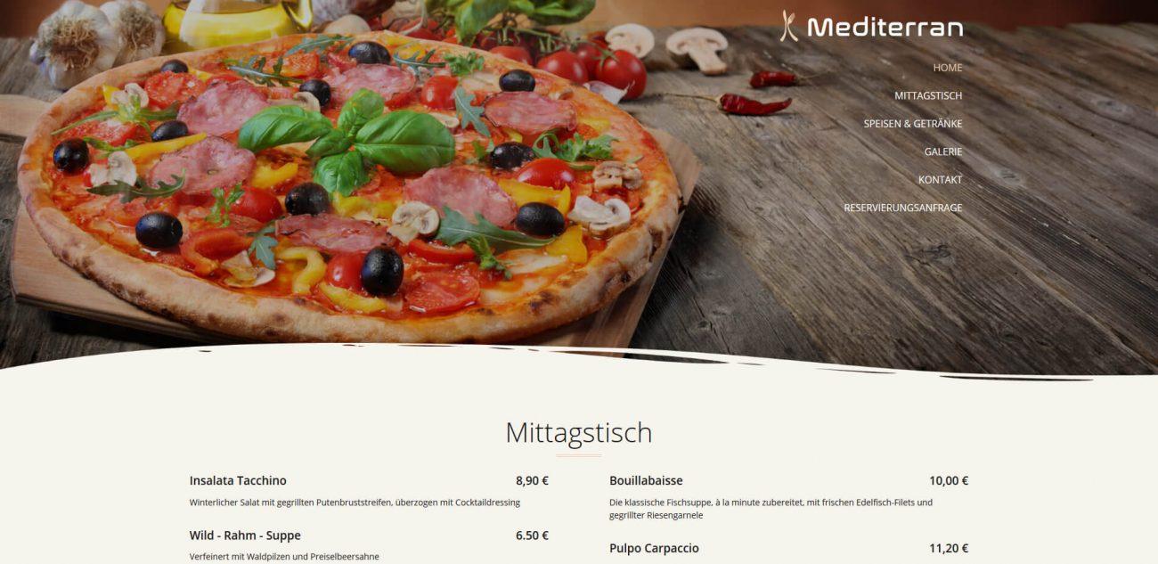 Website Vorlage Mediterran