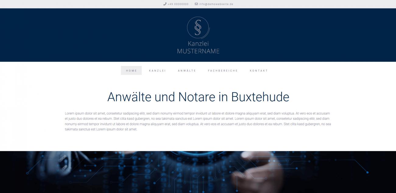 Website Vorlage Anwälte und Notare