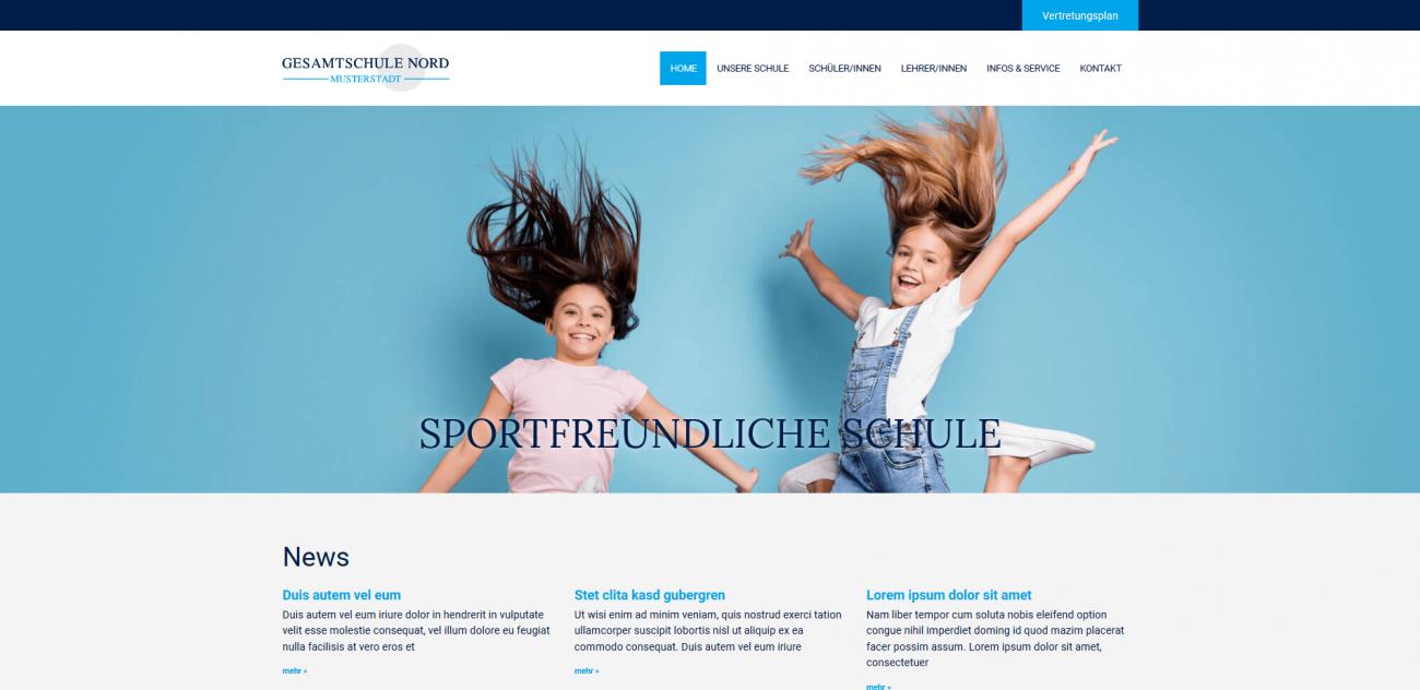Website Vorlage Schule
