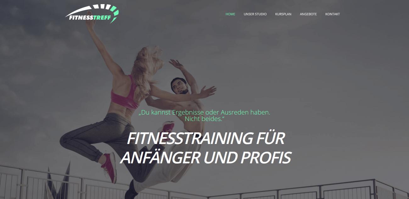 Website Vorlage Fitness