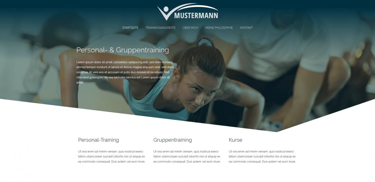 Website Vorlage Trainer